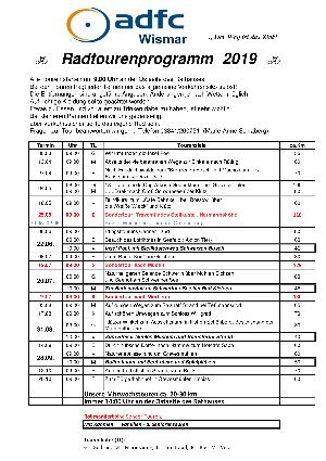 ADFC Wismar Touren 2019 2