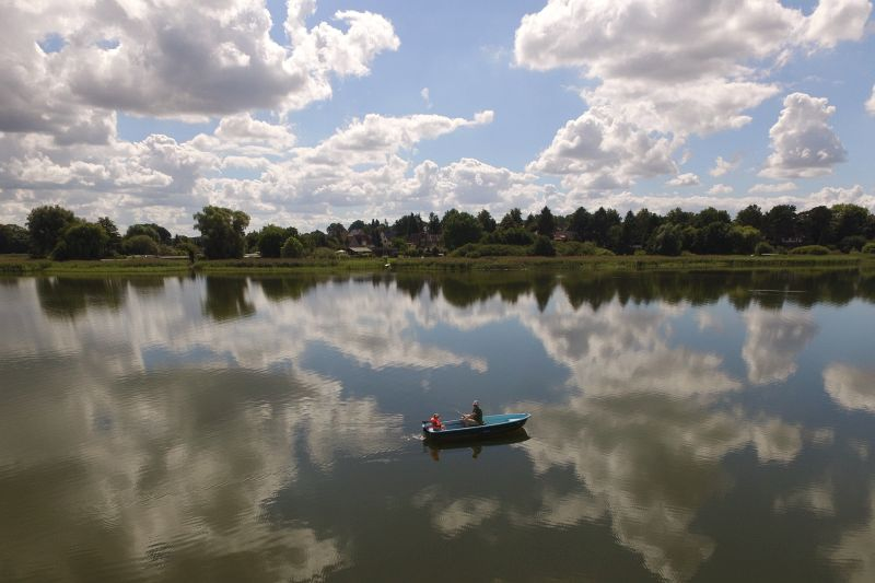 Angler auf dem Schweriner See